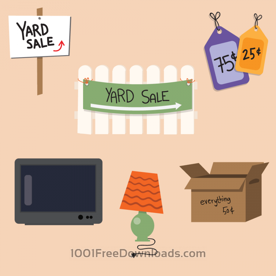 Free Vectors: Yard Sale Vector Set | Objects