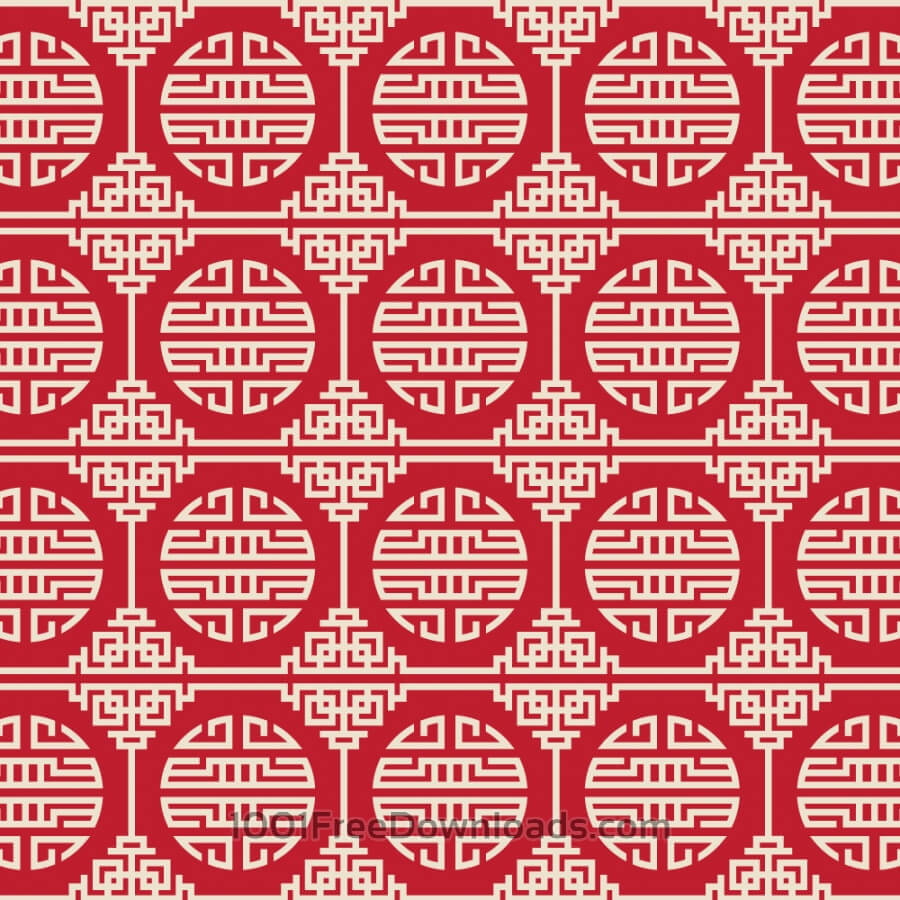 Free Vectors: Asian Red, and White Pattern | Backgrounds