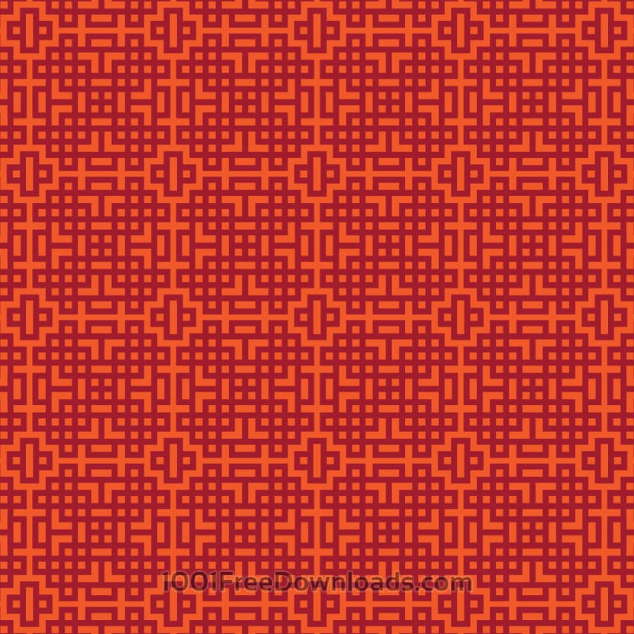Free Asian Red, and Orange Geometric Pattern