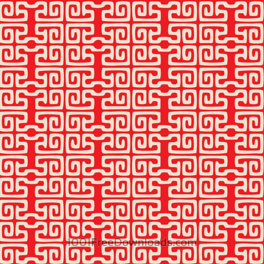 Free Asian Red and White Pattern