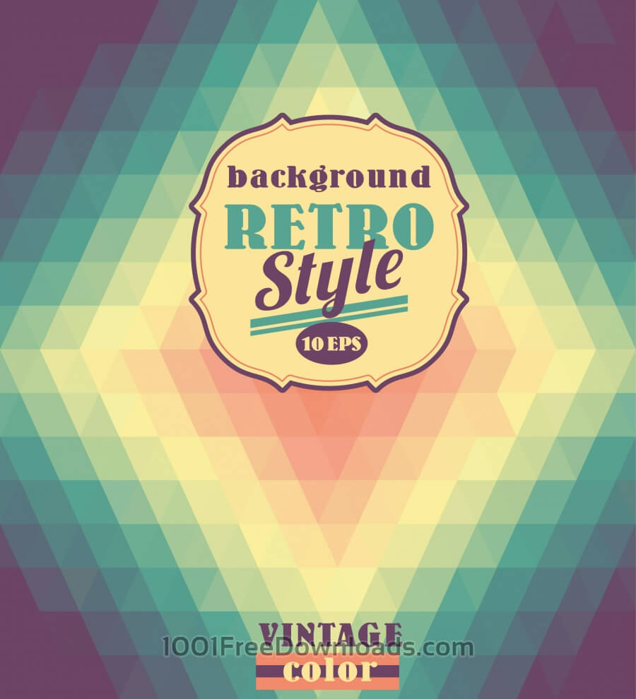 Free Geometric retro background.