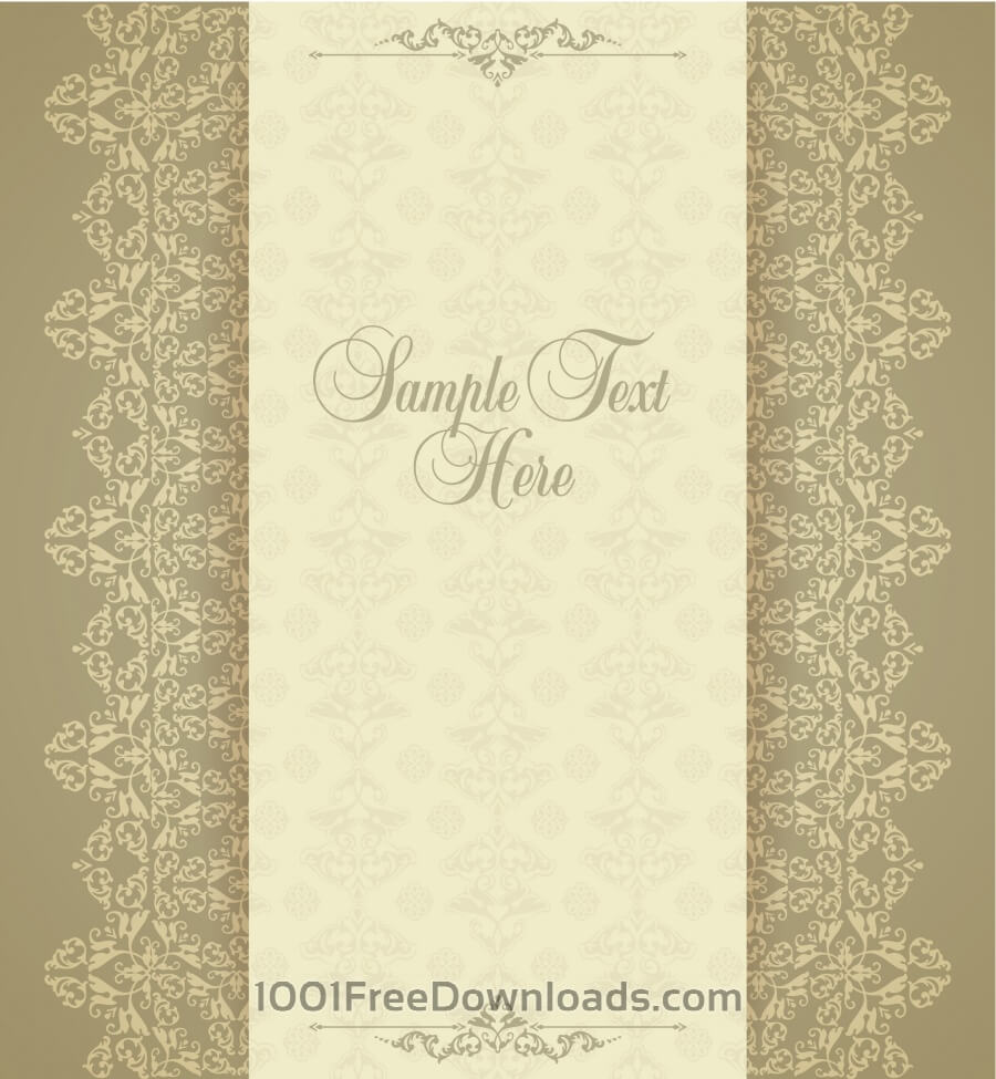 Free Design template in vintage style