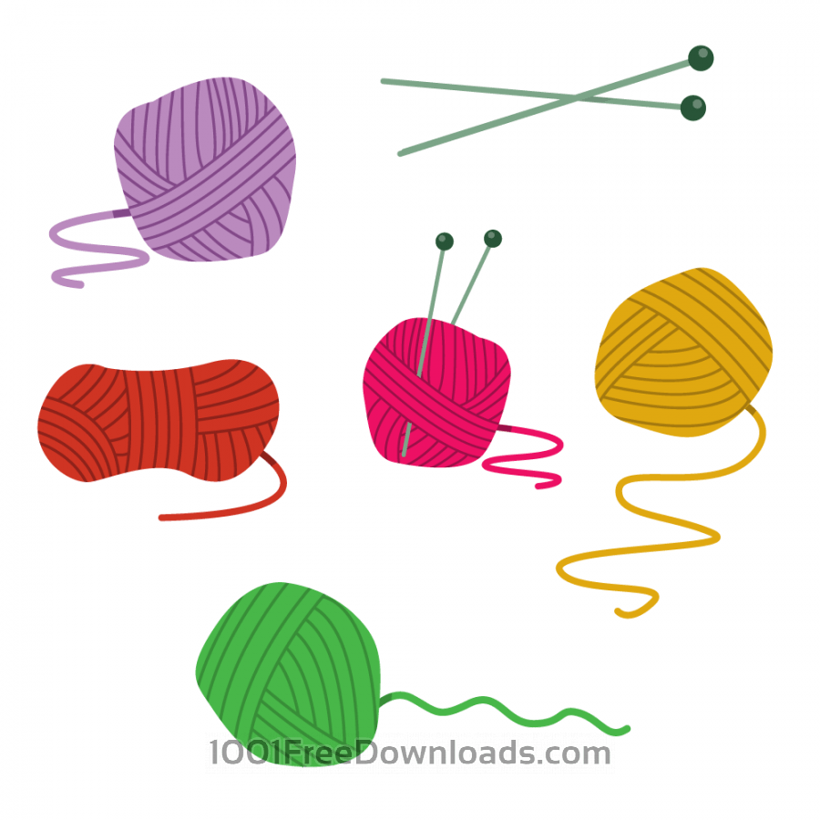 Free Colorfull Ball Of Yarn Vectors