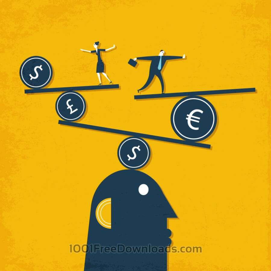 Free Vectors: People and money | Cartoons