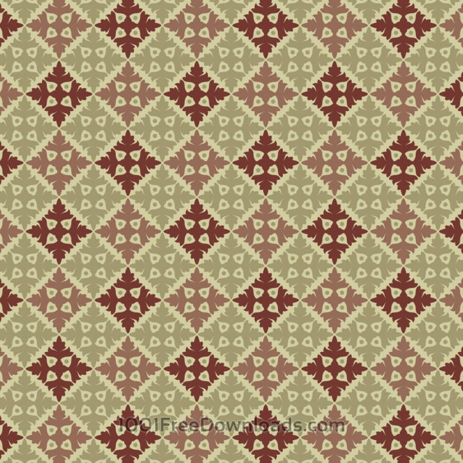 Free Ornate Vintage Green and Maroon Pattern
