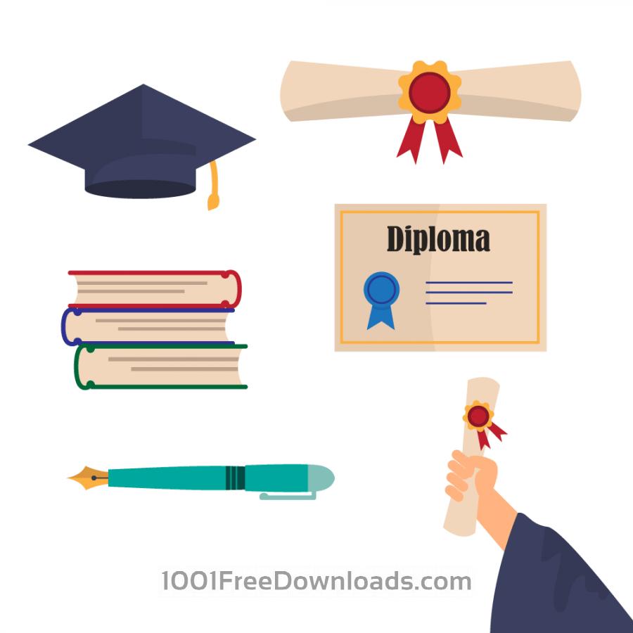 Free Graduation Vectors