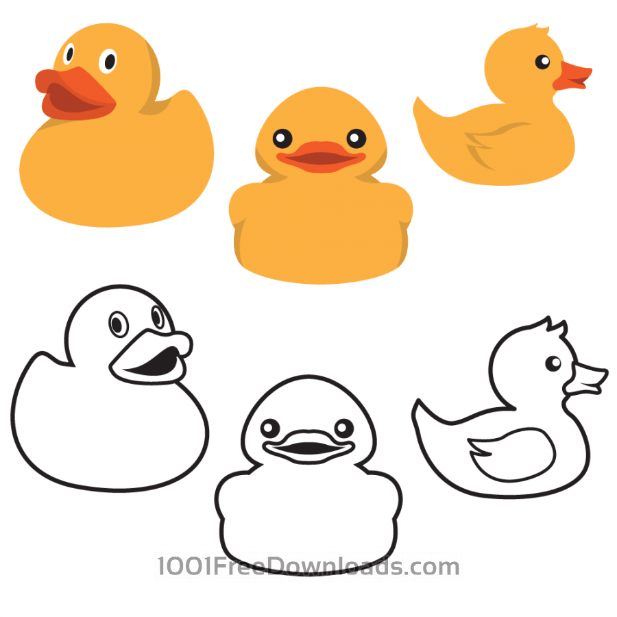Free Rubber Duck Colors And Outlines