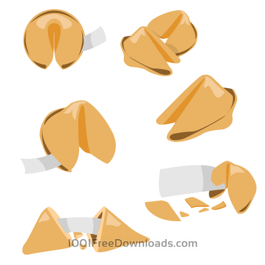 Free Fortune Cookie Vector Set
