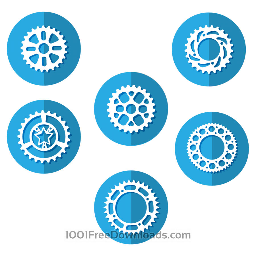 Free Vectors: Bike Sprocket Icons | Abstract
