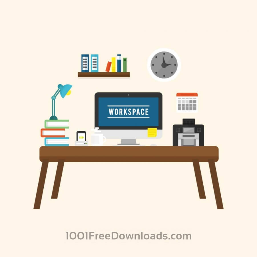 Free Vectors: Modern Workspace | Objects