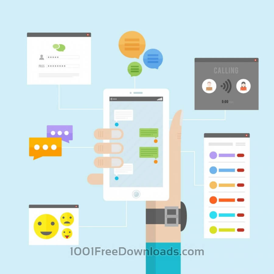 Free Vectors: Instant Messaging | Objects