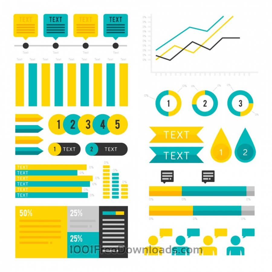 Free Vectors: Infographic Assets | Objects