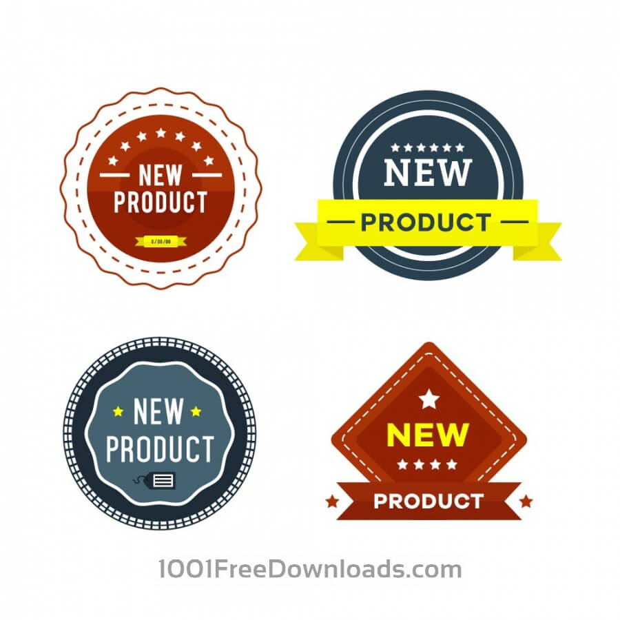 Free Vectors: New Product Badges | Icons