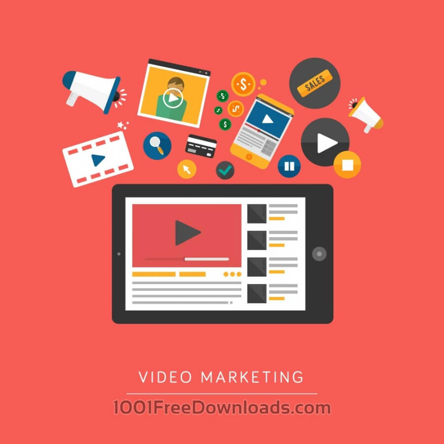 Free Vectors: Video Marketing | Icons