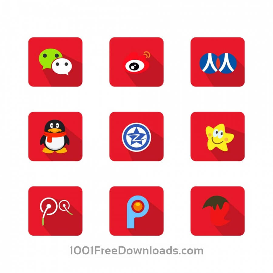 Free Vectors: Chinese Social Media Icons | Objects