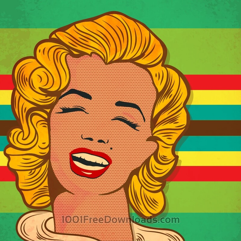 Free Vectors: Retro woman  | Vintage