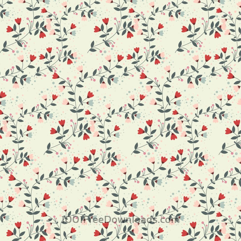 Free Vectors: Flower pattern | Backgrounds