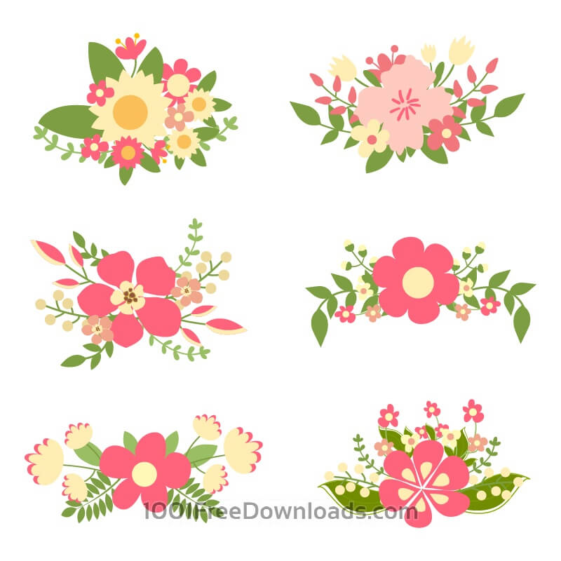 Free Hand drawn floral elements