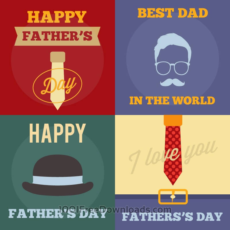 Free Father's Day Retro Cards