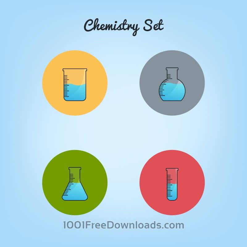 Free Chemistry tubes icons set