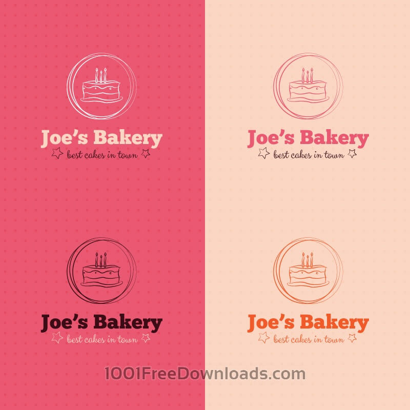 Free Vectors: Bakery cake logo design | Abstract