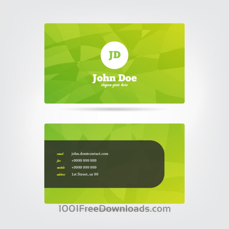 Free Vectors: Modern Business Card | Abstract