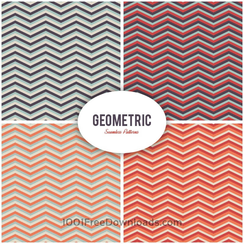 Free Seamless vector geometric patterns set