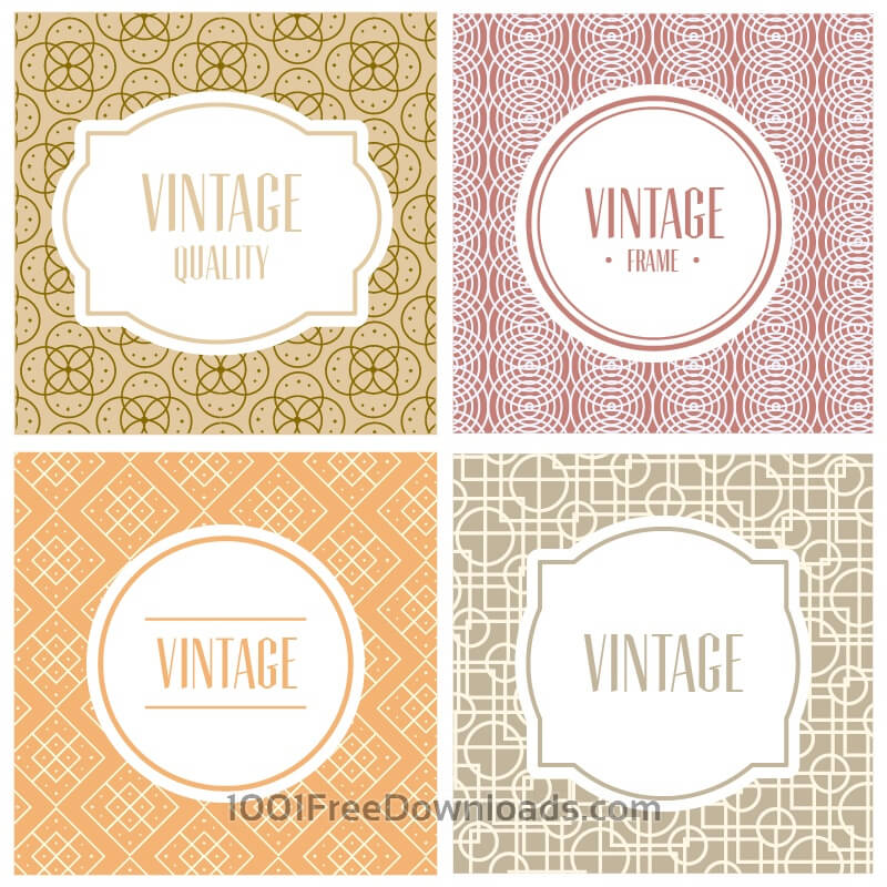 Free Labels and badges on simple geometric patterns