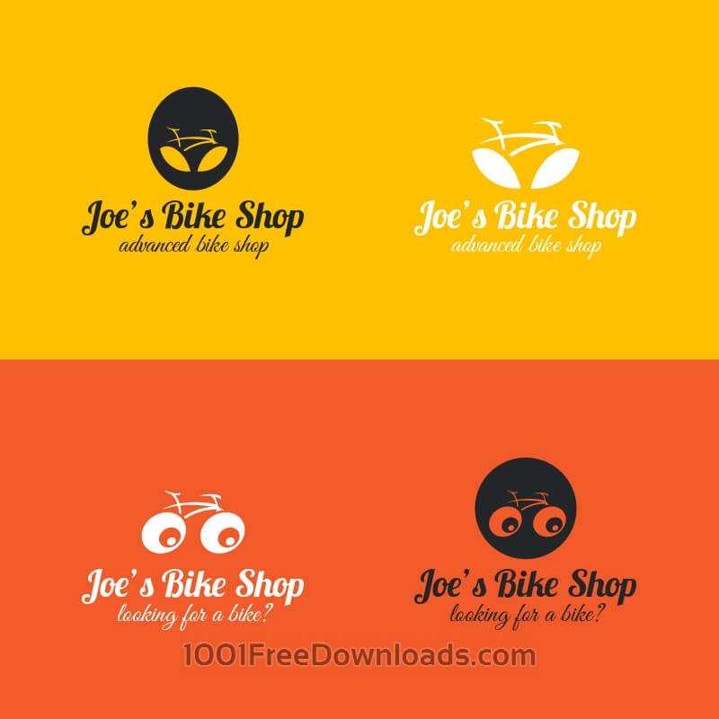 Free Bicycle logos design