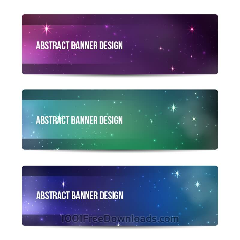 Free Starry sky banners design