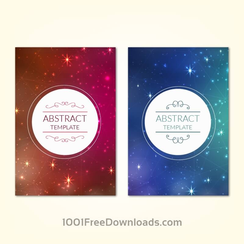 Posters template with universe starry sky background