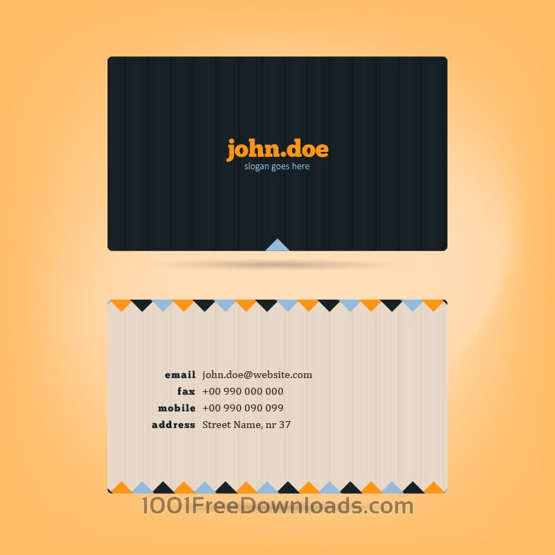 Free Vectors: Vector Business Card | Abstract