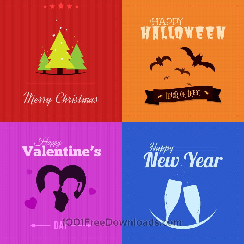 Free Vectors: Holiday Badges | Valentine