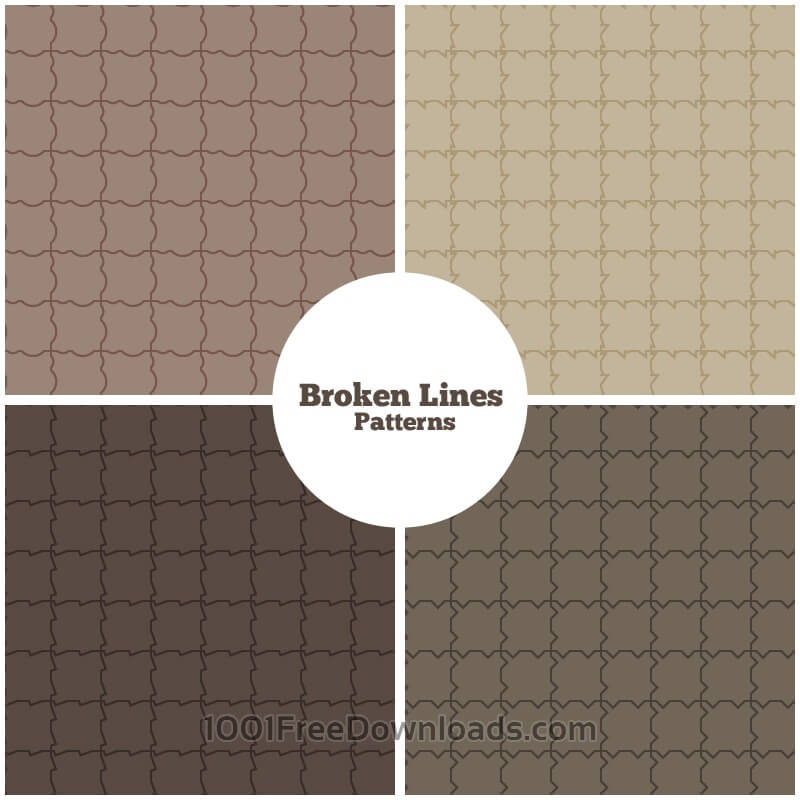Free Vectors: Broken Lines Patterns | Abstract