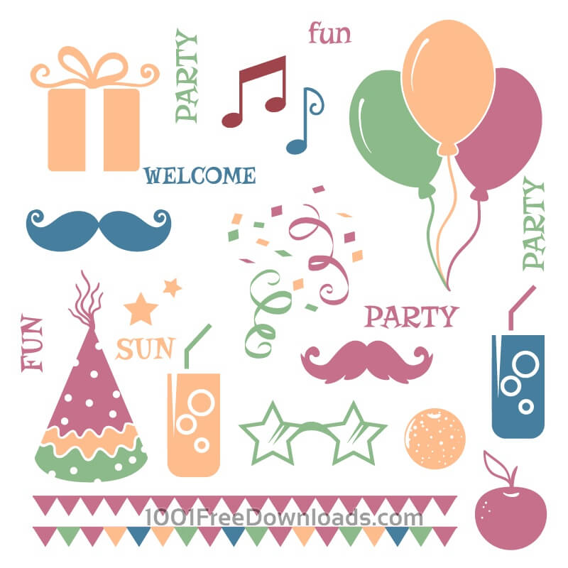 Free Vectors: Celebration vector elements | Objects