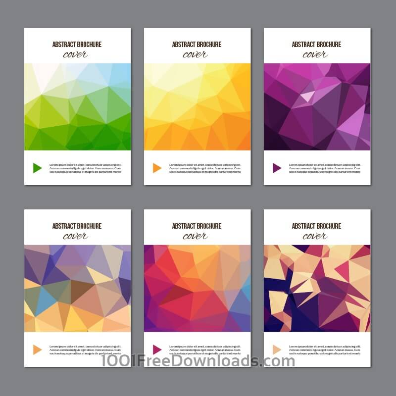 Free Set of modern cover brochures