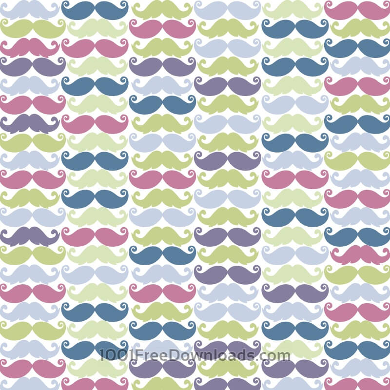 Free Vectors: Moustache pattern | Patterns