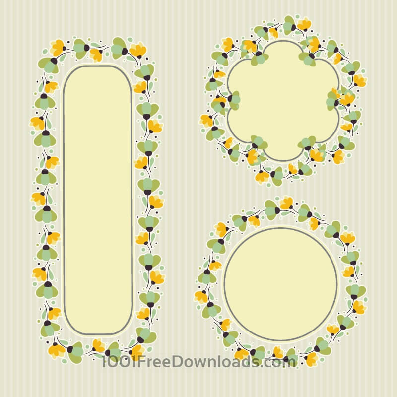 Free Set of floral frames