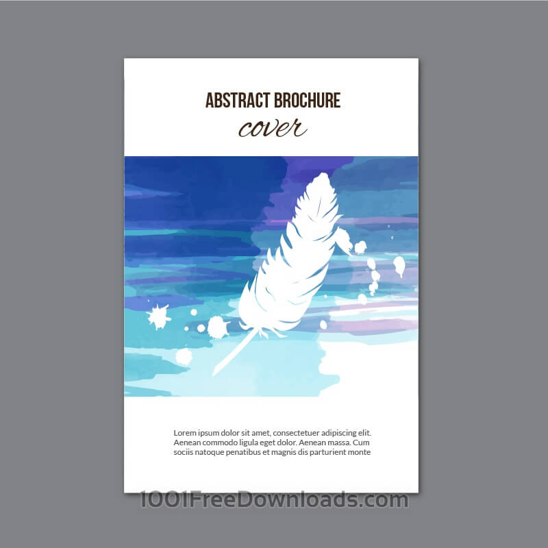 Free Vectors: Watercolor brochure  | Abstract