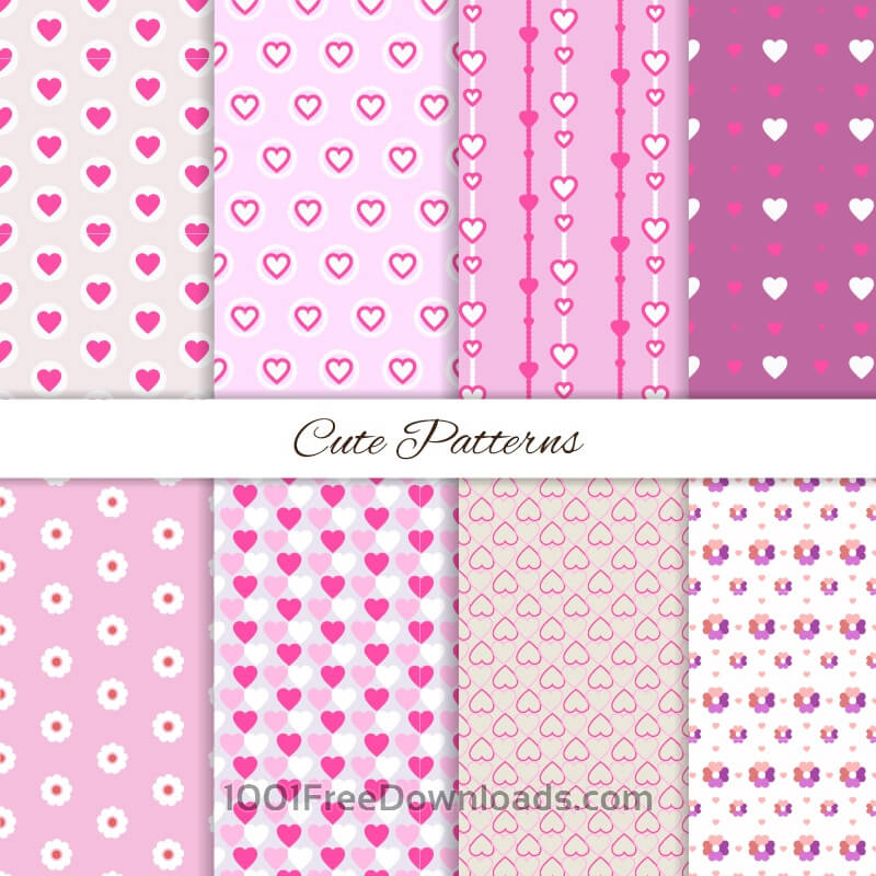Free Set of seamless love patterns