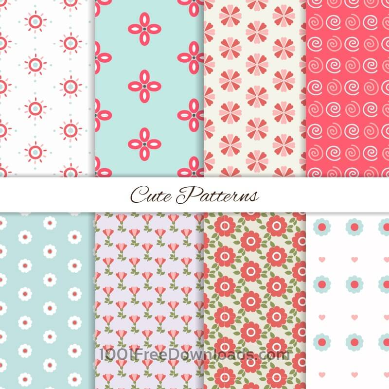 Free Seamless patterns set