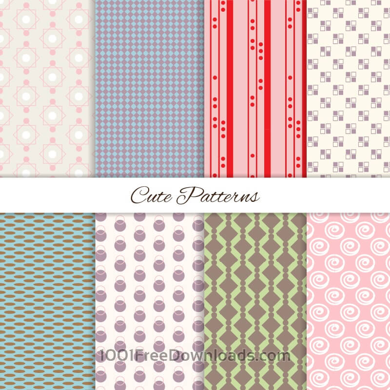 Free Vectors: Seamless patterns set | Abstract