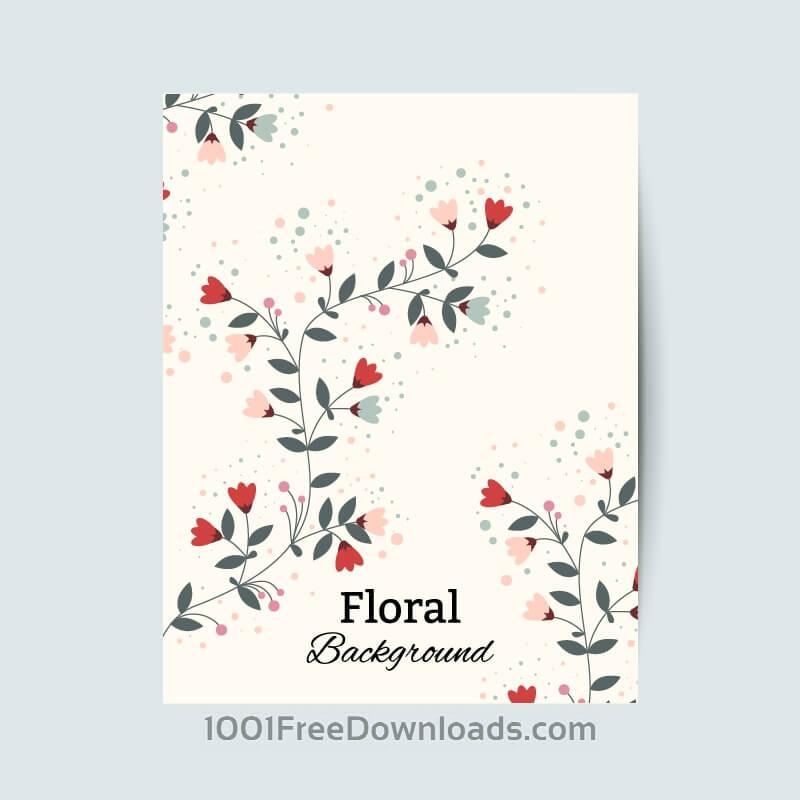 Free Floral vintage flyer
