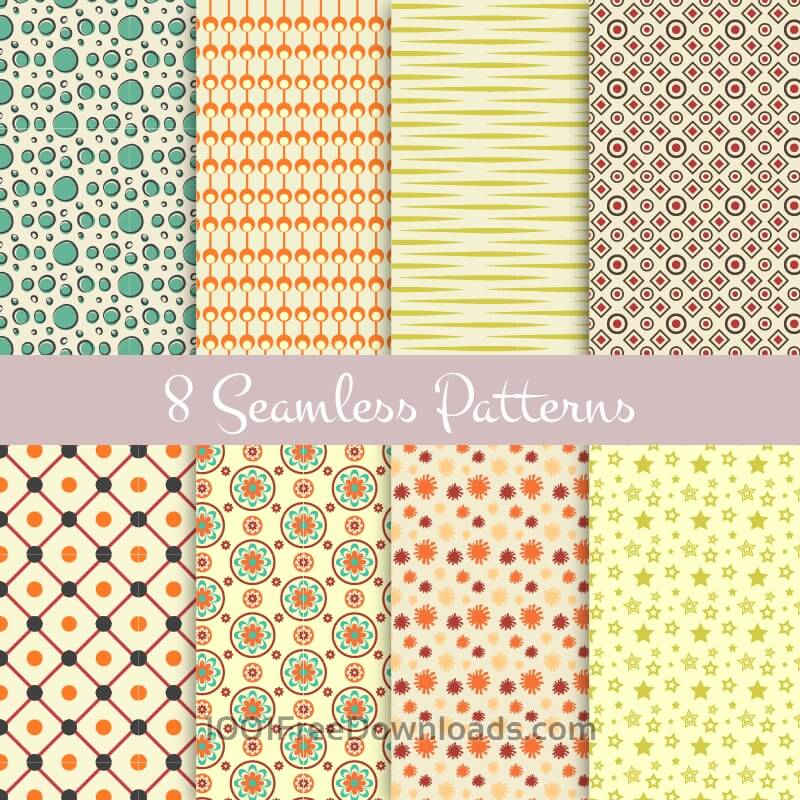 Free Vectors: Retro seamless patterns | Abstract