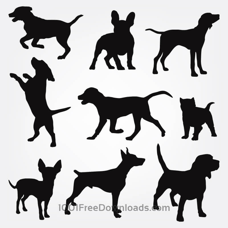Free Dogs silhouettes