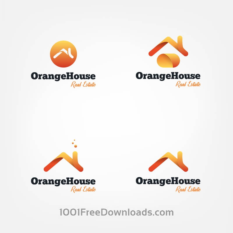 Free Vector house roofs logo