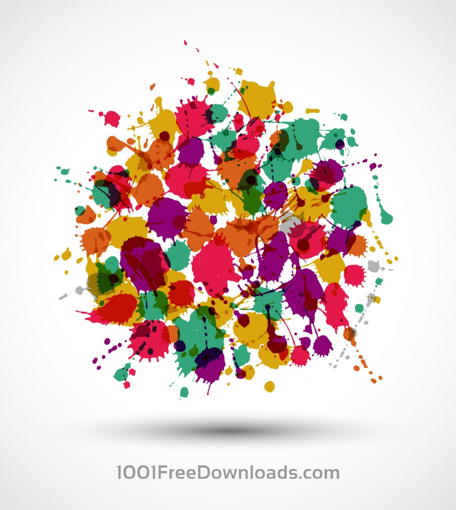 Free Vectors: Banners of color blots | Backgrounds