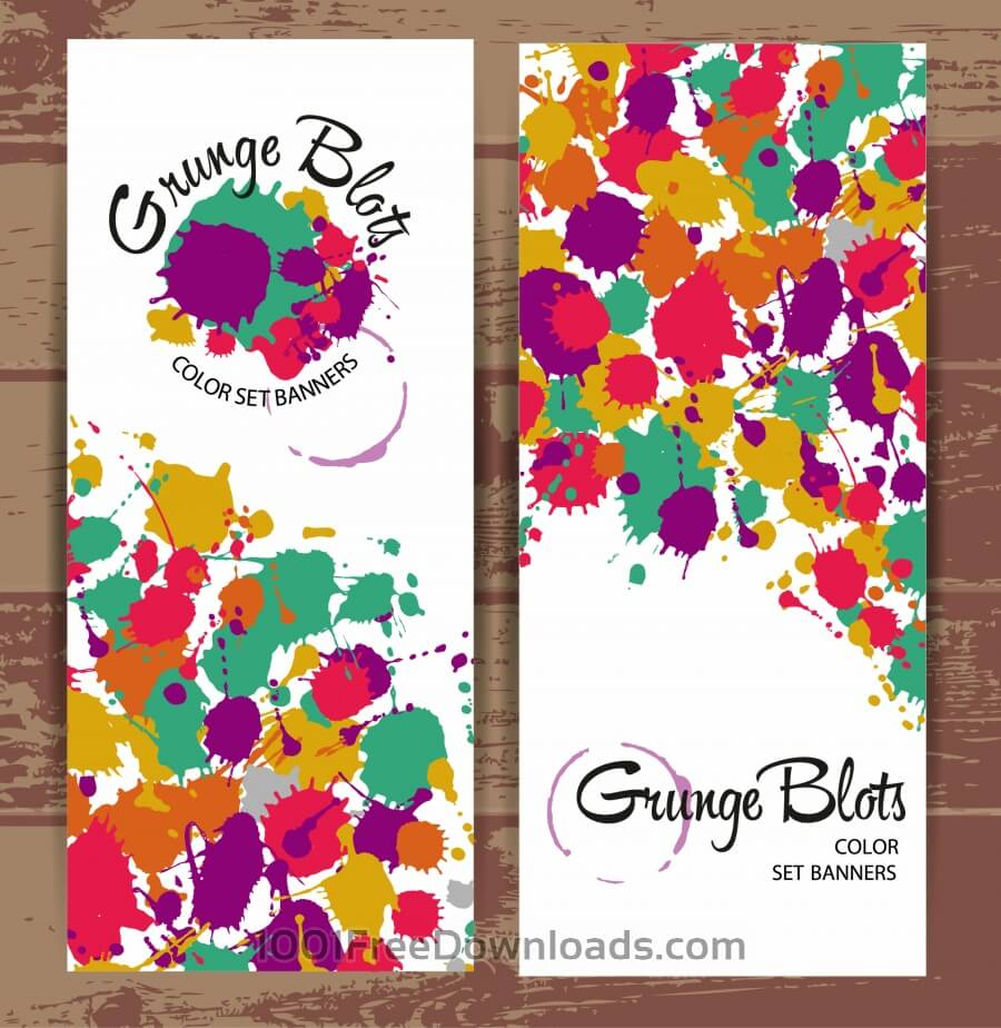 Free Banners of color blots
