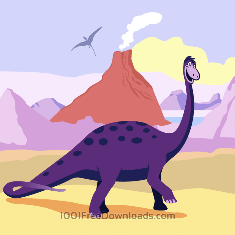 Free dinosaur cartoon