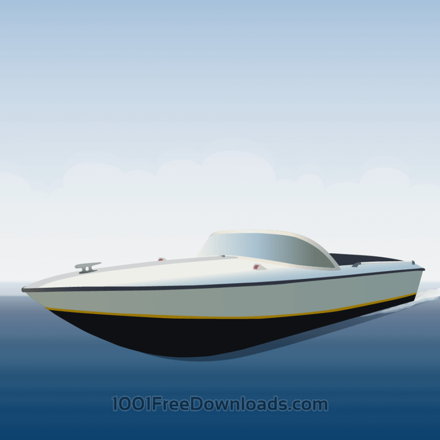 Free Vectors: Speedboat | Travel